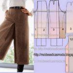 transformação de saia calça