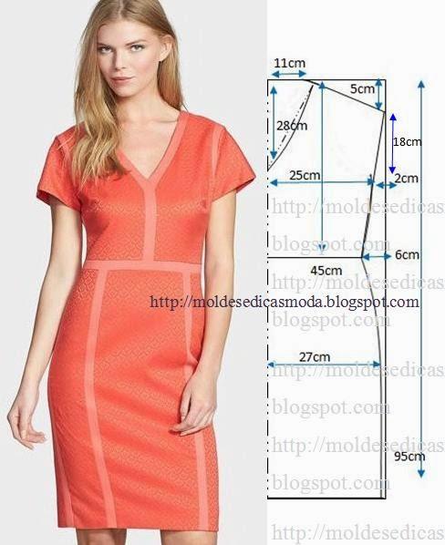 vestido casual laranja