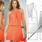 vestido curto laranja