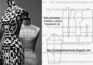 molde base camisa larga