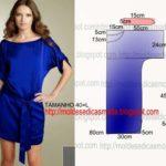 vestido bata azul