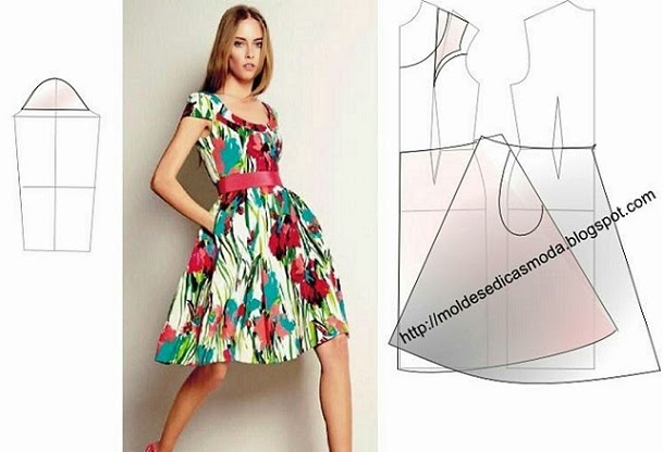 vestido decote redondo