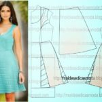 vestido casual curto azul