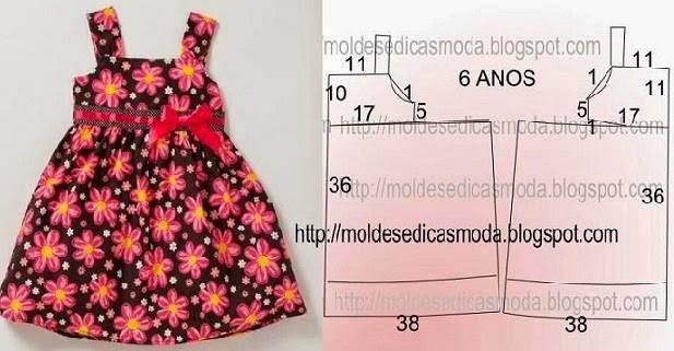 vestido de criança floral