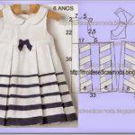 molde de vestido infantil grátis