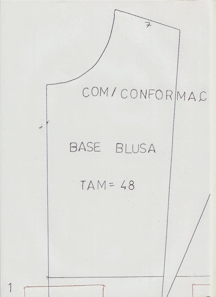 Molde Base De Blusa Tamanho 48 Moldes Dicas Moda