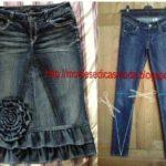 reciclagem de calça jeans