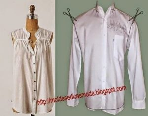 reciclagem criativa de camisa de homem