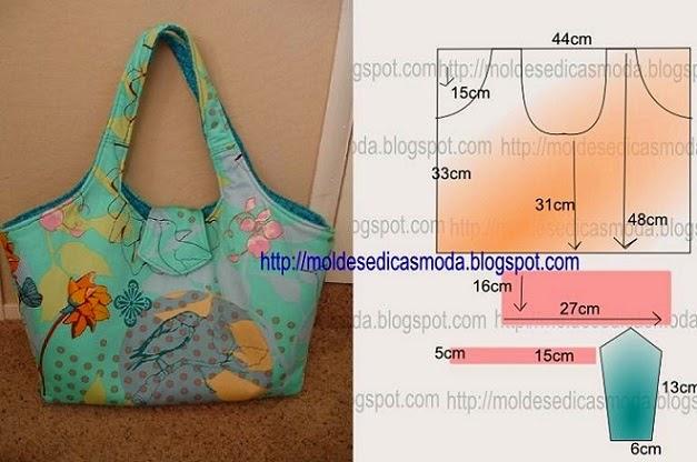 Bolsa De Tecido Facil : Bolsa acolchoada colorida com passo a de corte e costura