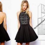 como cortar vestido godê simples