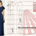 vestido longo drapeado