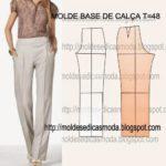 molde base de calça tamanho 48