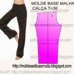 molde base calça malha