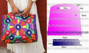 bolsa colorida de tecido