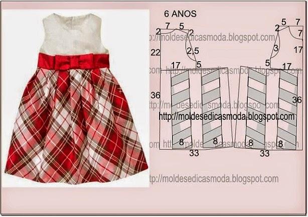 Vestido Infantil De Tecido Com Molde Passo A Passo