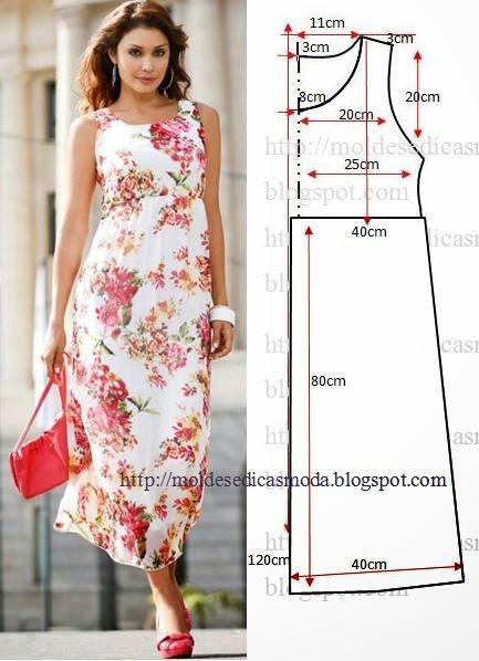 Corte e costura vestido
