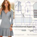 vestido casual curto
