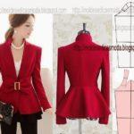 detalhes de modelação de casaco, calça e saia