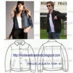 molde de jaqueta tamanho 40
