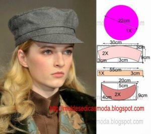 molde de boina feminina