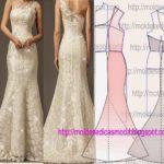 molde de vestido de cerimónia