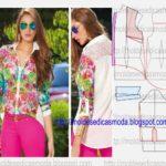 camisa floral feminina