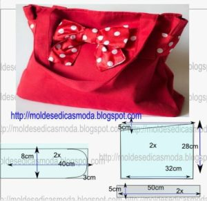 bolsa com laço