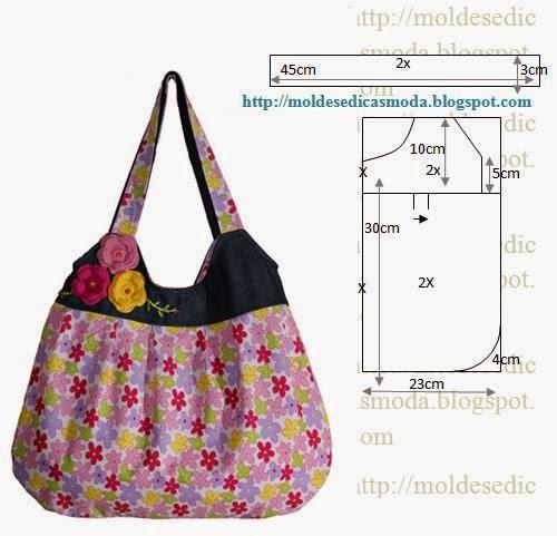Bolsa De Tecido Passo A Passo Como Fazer : Bolsa floral em tecido molde com medidas e passo a
