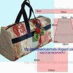 molde de saco de viagem