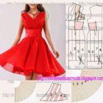 vestido vermelho godê