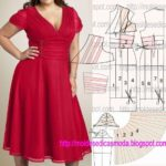 vestido vermelho com decote