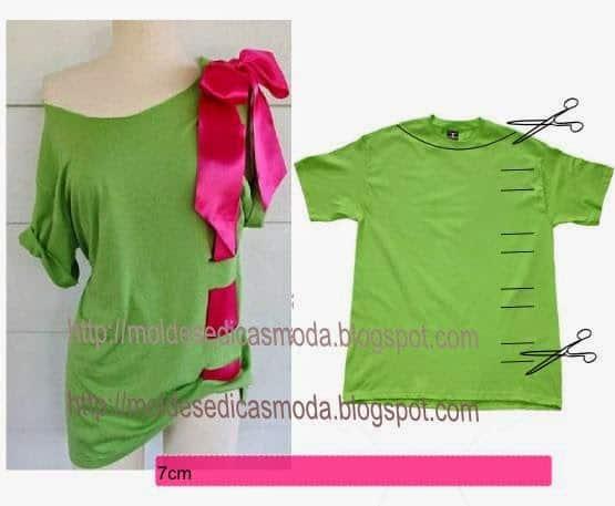 reciclagem de blusa