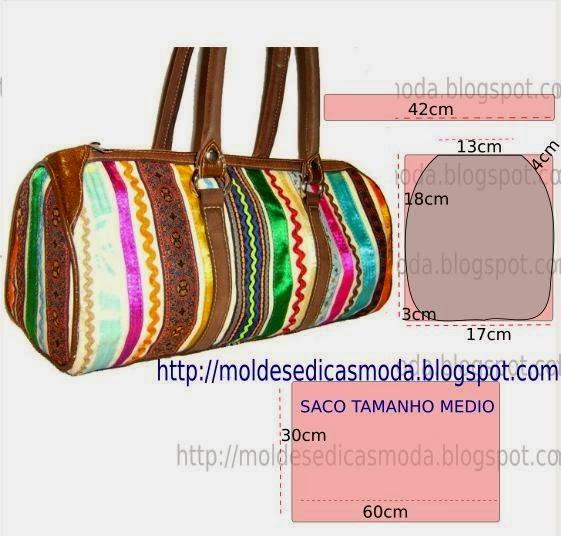 Bolsa De Viagem Em Tecido Passo A Passo : Molde de bolsa viagem moldes moda por medida