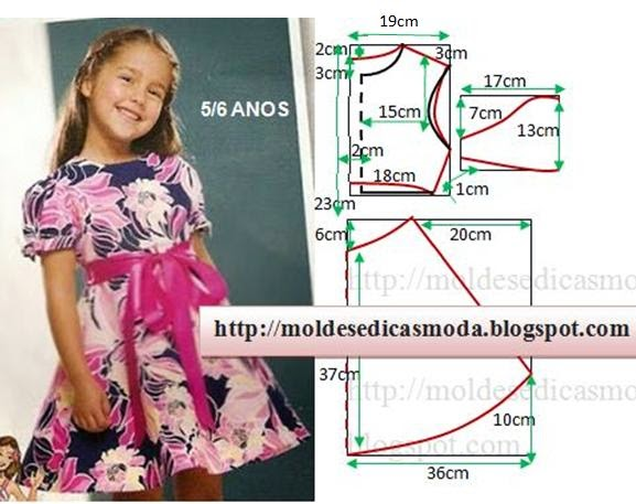 Платье для девочек. как сшить 260