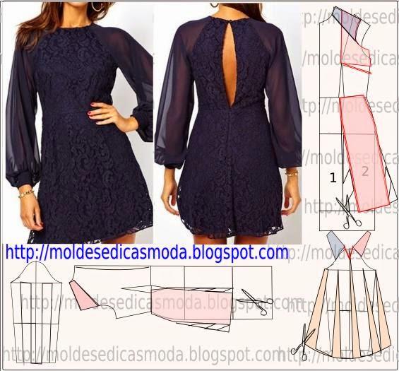 vestido de renda com tule transparente