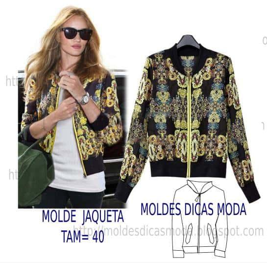 molde de jaqueta feminina