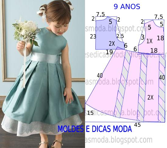 vestido de cerimónia para criança