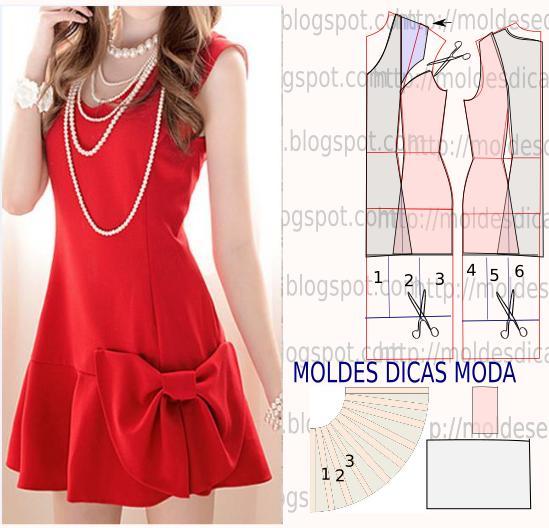vestido vermelho com laço