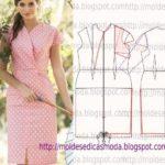 molde de vestido oriental