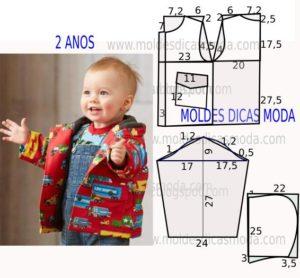 Molde blusão de criança
