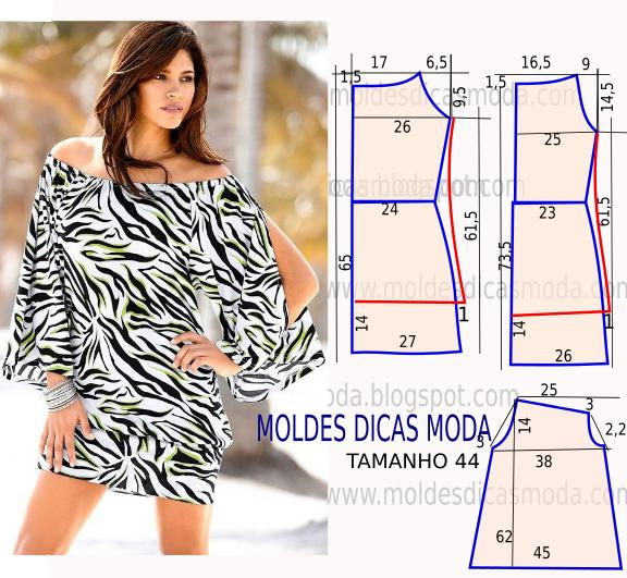 molde de vestido zebra