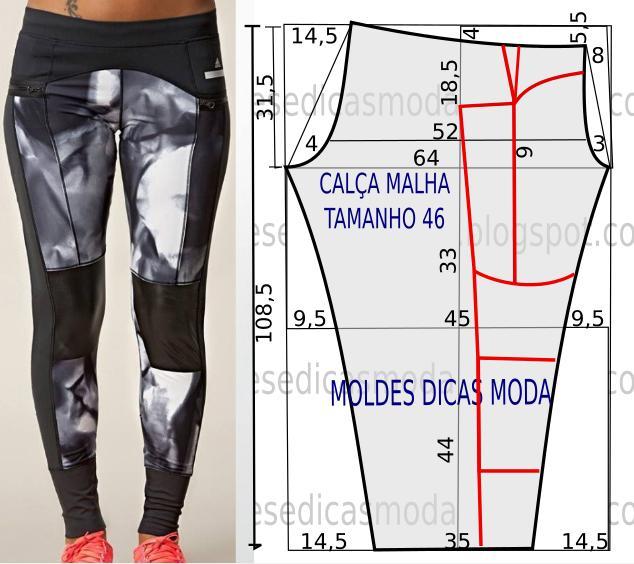 MOLDE DE CALÇA DE MALHA