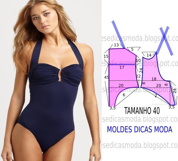 MOLDE DE FATO DE BANHO