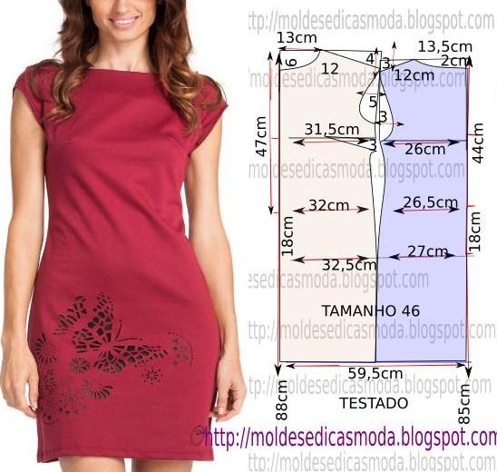 vestido bordado no tecido