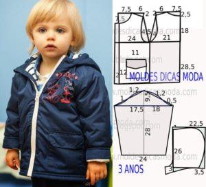 blusão de criança