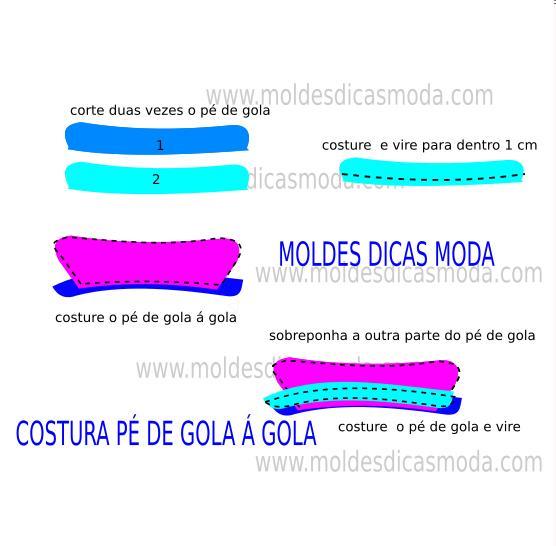 COSTURA PE DE GOLA E GOLA