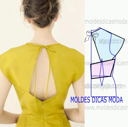 modelagem de costas em amarelo