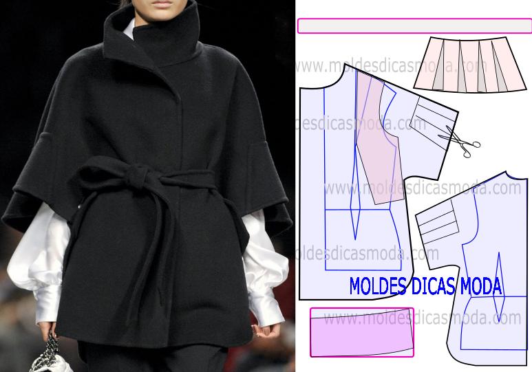 molde casaco capa