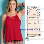 molde de blusa vermelha