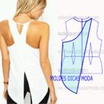 detalhe de modelagem de costas
